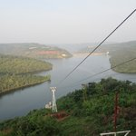 Srisailam dam from the ropeway trolley