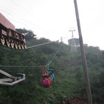 Ropeway down from Srisailam town to the dam