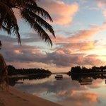 uitzicht op de lagune bij muri beach
