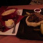 Salmon soup and reindeer