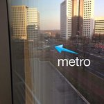 View from our room. See the metro!