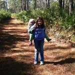 Walking on one of the trails