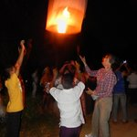 sending off our lanterns and wishes