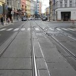 the tram lines