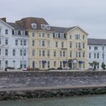 Cavendish hotel taken from a boat on the river Exe