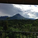 View of volcano Arenal from the porch of my cabin