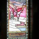 Stained Glass in entrance - left