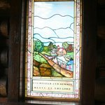 Stained Glass at entrance - right
