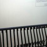 Туман, фото через балконное стекло