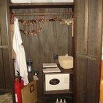 Artisanal hangers inside the closet at Villa 67