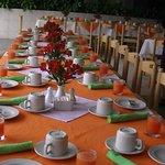 mise de table pour le petit dejeuner