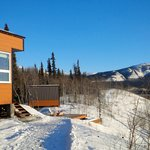 Cabins on a sunny day