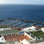 view of los gigantes harbour