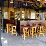 The Bar.  Well-Stocked and a Great Location to Share Your safari Tales.