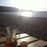 Pimms at the beach bar