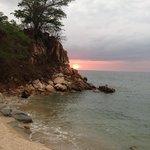 Xinanlani Beach at sunset