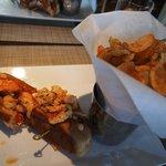 lobster sandwich in hotel restaurant