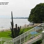 Vista de la playa desde la habitacion
