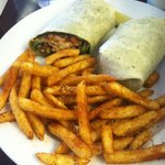 Santa Fe lunch special with Cajun fries