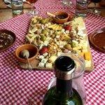 Fantastic assorted cheese platter at El Artesano