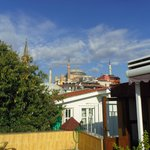View towards Blue Mosque from Rooftop Terrace