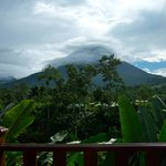 Arenal Volcano View across the garden from room 206