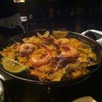 Sea food paella for 2