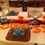 Last night table decorations