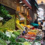Fruit and vegetable market off Piazza Maggiore
