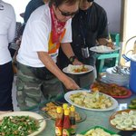 Meals on the boat trip for Komodo tours by Komodo mega tours in Indonesia