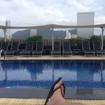 beautiful view patong from roodtop pool