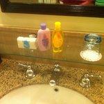 Kids toiletries ready in room