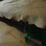 Il fantastico letto...alto,forse,30 cm...