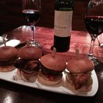Sliders and house red