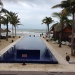 Windy and raining, but fabulous hotel who's spirit won't be broken