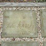 JFK signature in cement
