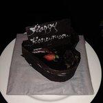 complimentary honeymoon cake, very sweet :)