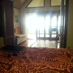 View from bed Oceanview fale No. 3