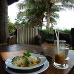 excellent view, moist sea bass, creamy gnocchi