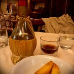 Vino cotto and cantucci,  perfect end to a delicious meal