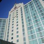 Visão externa do hotel