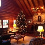 The Lodge decorated for Christmas