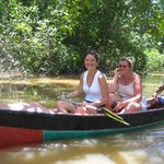 withe the canoes on the igarapé dos limões