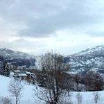 """Panoramica dalla Camera """"Il Frassino"""" dopo una bella nevicata."""