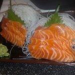 Salmon sashimi $10