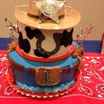 Cowboy cake for my cousin's first birthday