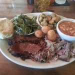 U can cut the Brisket with your fork. Also got a extra side of brunswich stew. Excellent,