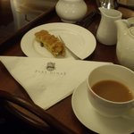 Homemade cake and tea in the drawing room on arrival