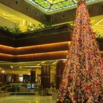 Warm, Welcoming lobby with seasonal decor