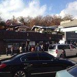 The queue at the sujebi restaurant